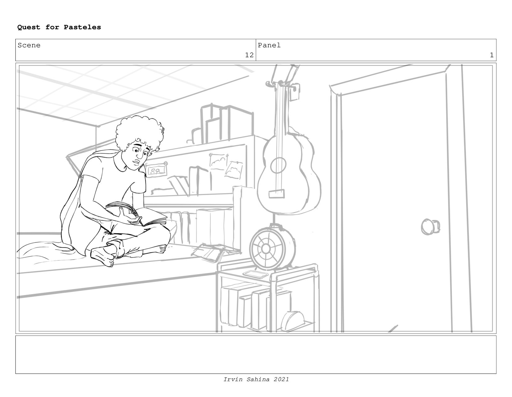 Scene 12 Panel 3 Dialog so what was all that no...