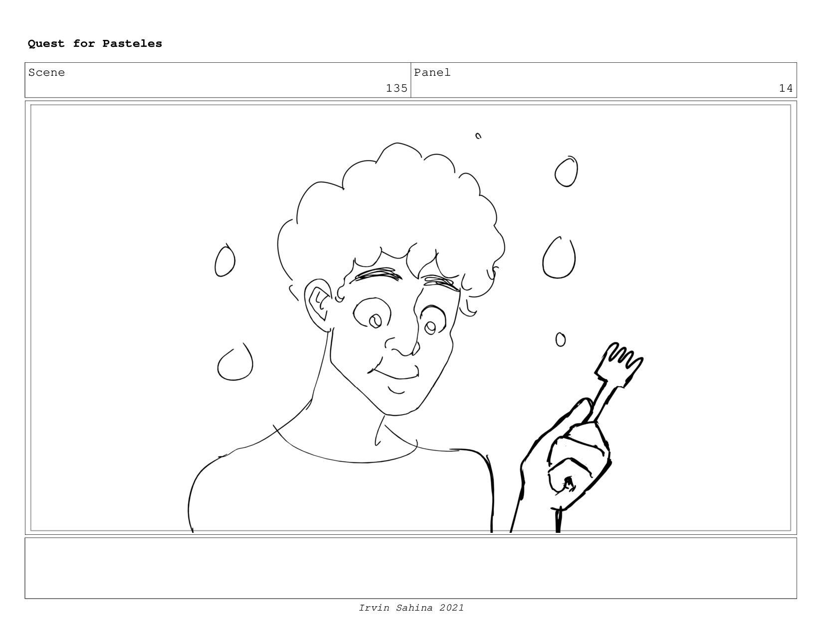 Scene 145 Panel 3 Quest for Pasteles Irvin Sahi...