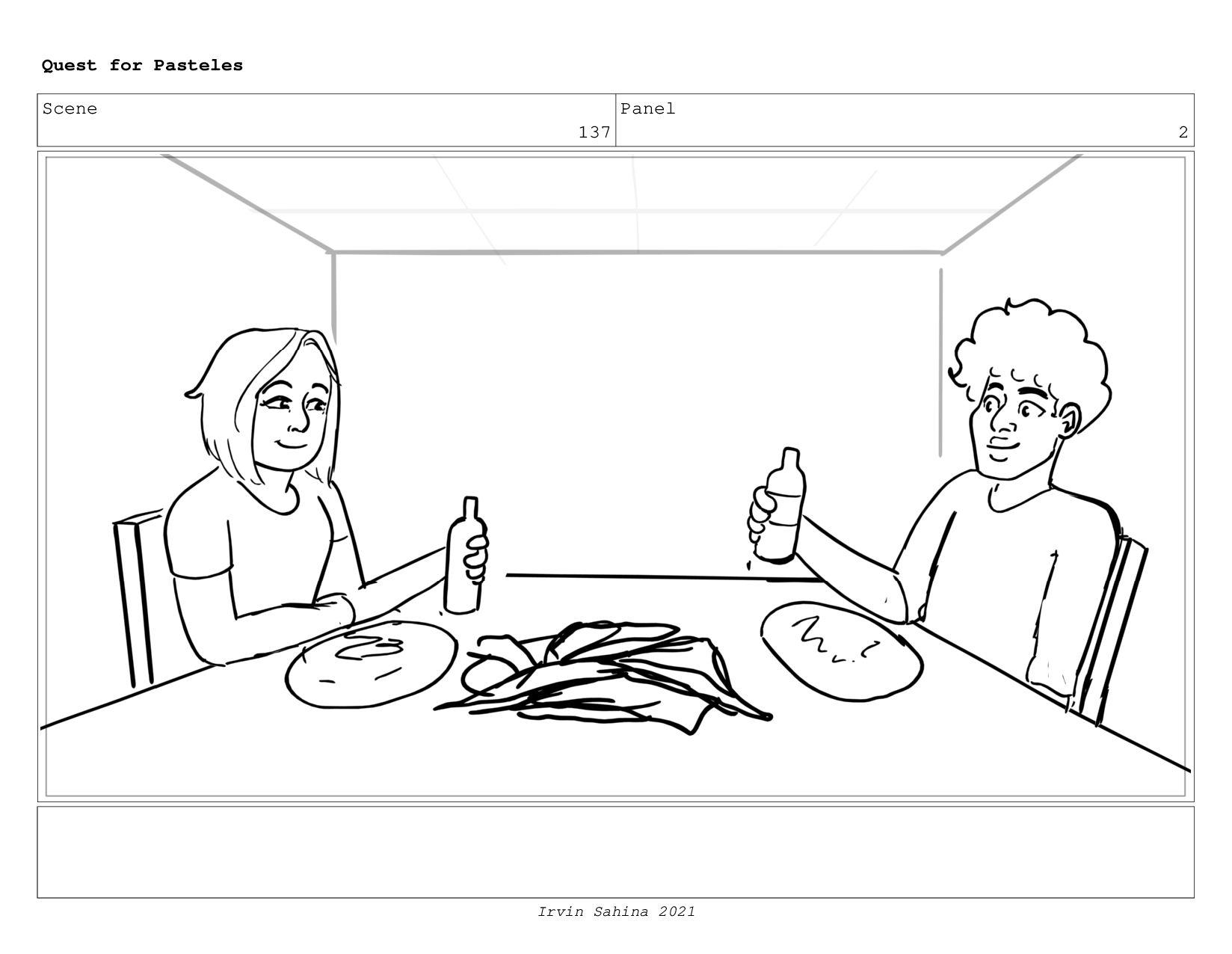 Scene 145 Panel 6 Quest for Pasteles Irvin Sahi...