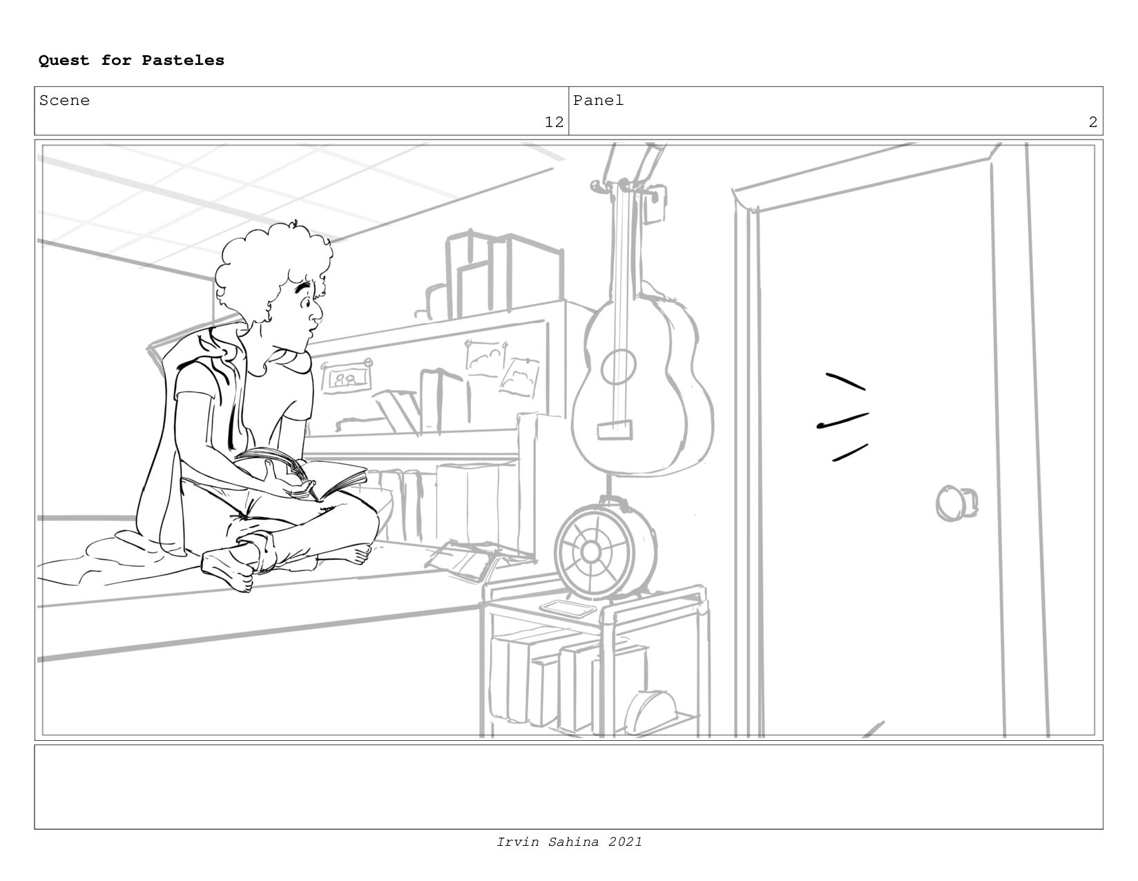 Scene 13 Panel 1 Quest for Pasteles Irvin Sahin...