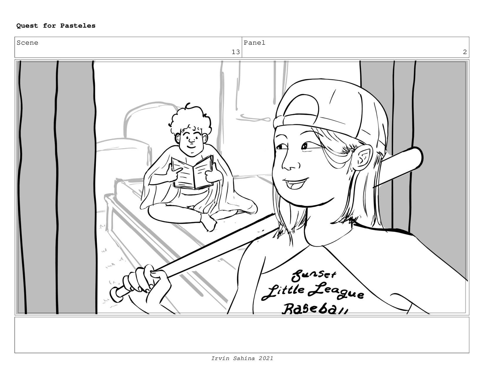 Scene 13 Panel 4 Quest for Pasteles Irvin Sahin...