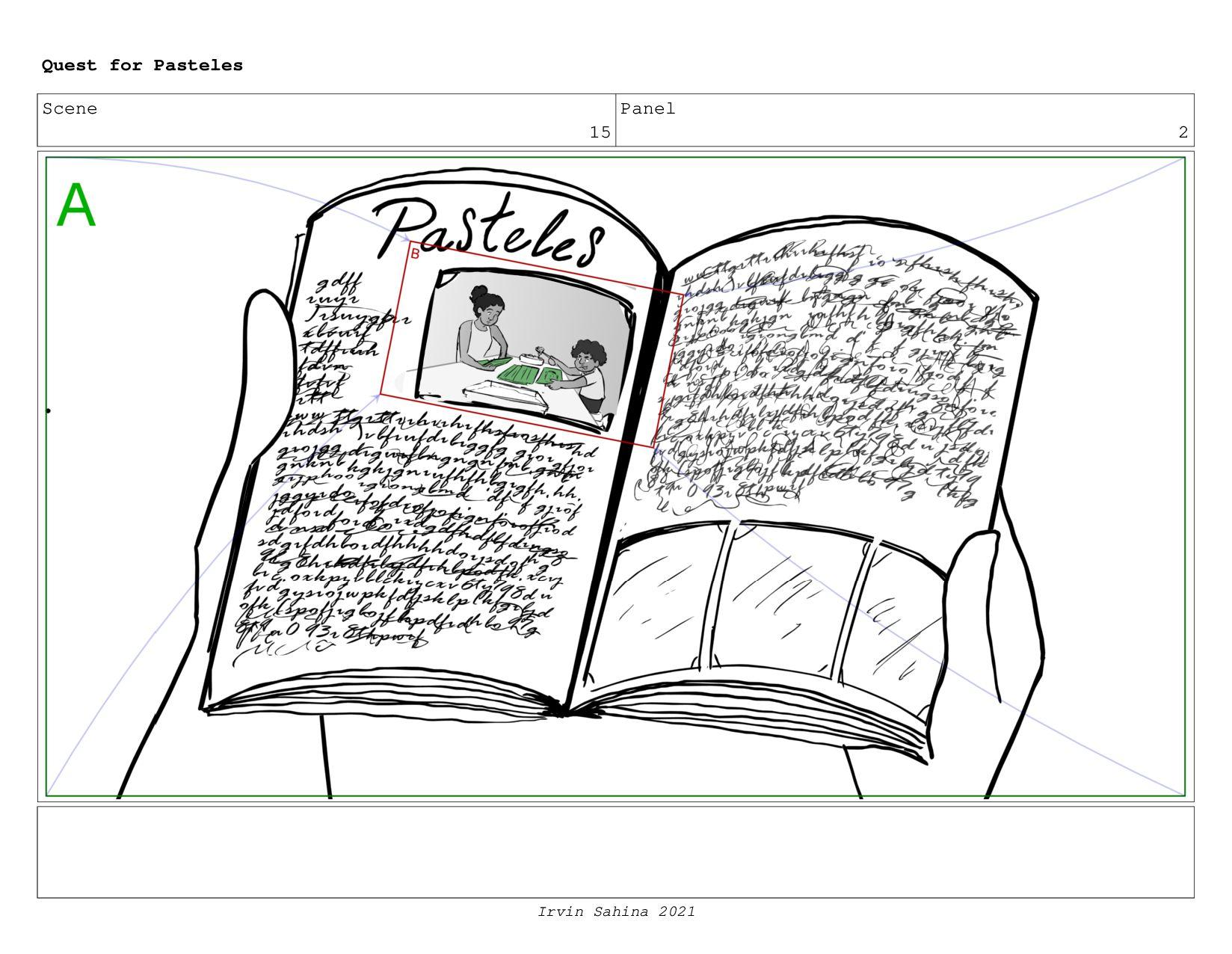 Scene 16 Panel 2 Quest for Pasteles Irvin Sahin...