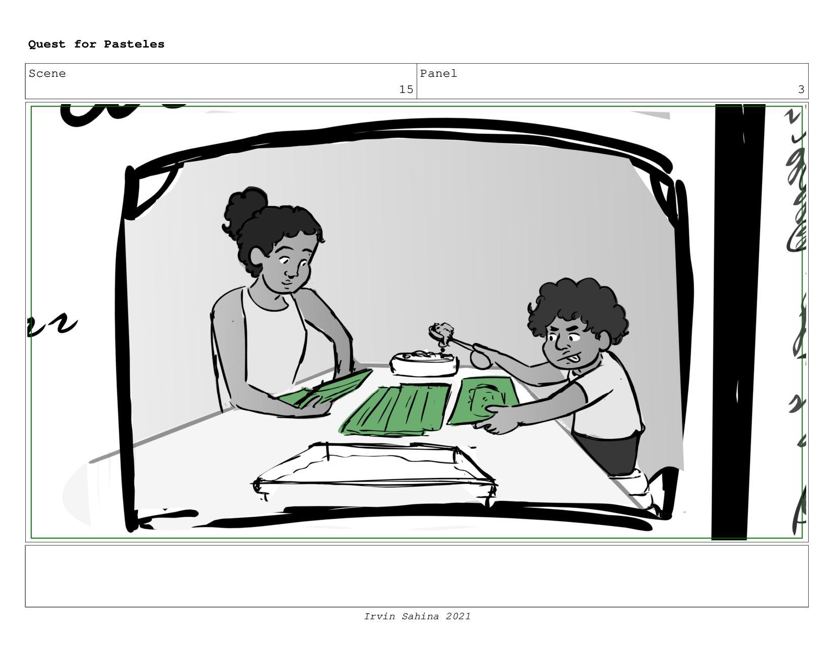 Scene 16 Panel 3 Quest for Pasteles Irvin Sahin...