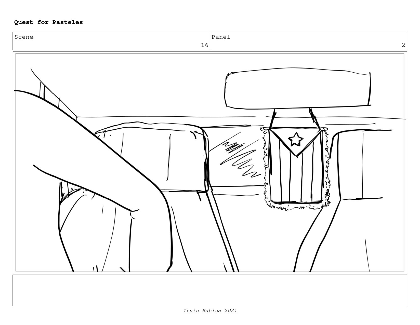 Scene 16 Panel 5 Quest for Pasteles Irvin Sahin...