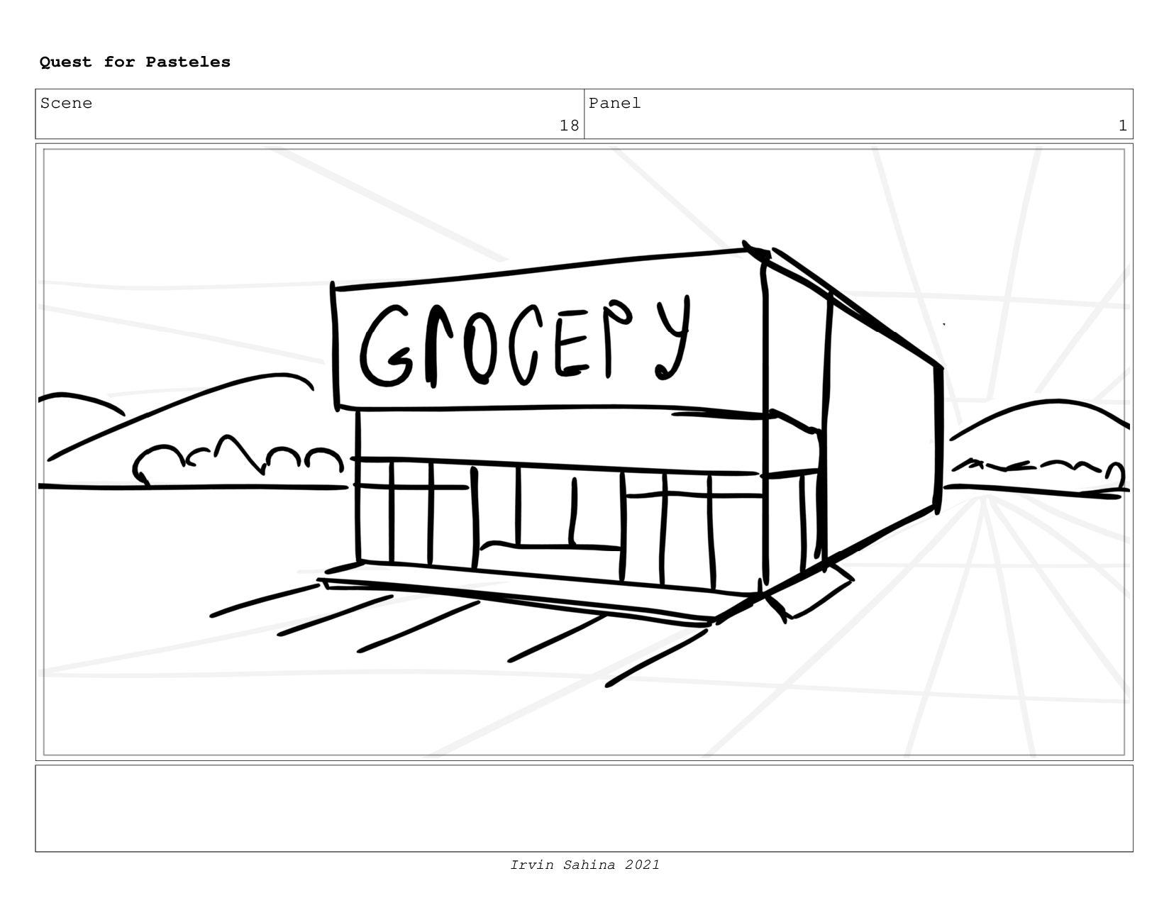 Scene 19 Panel 1 Quest for Pasteles Irvin Sahin...