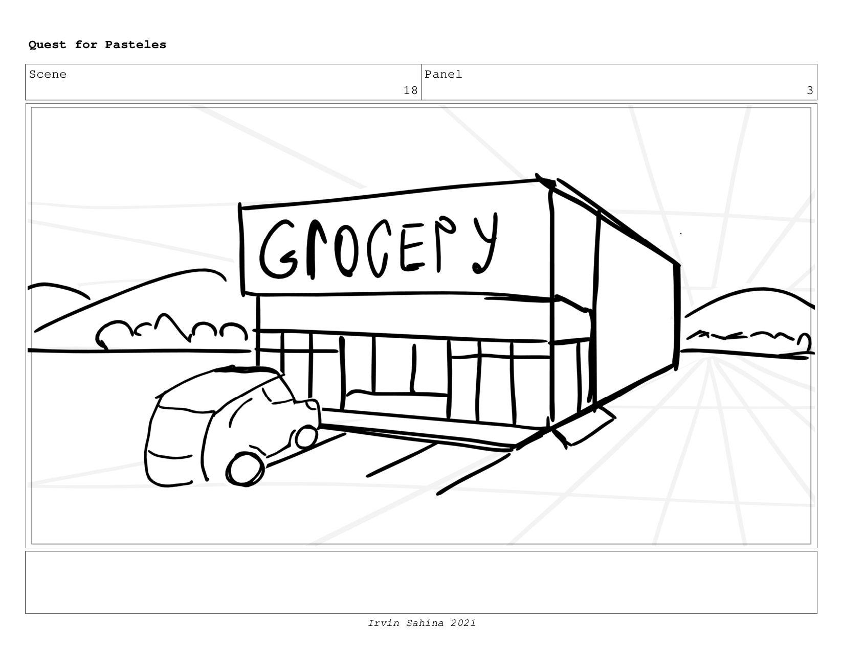 Scene 21 Panel 1 Quest for Pasteles Irvin Sahin...
