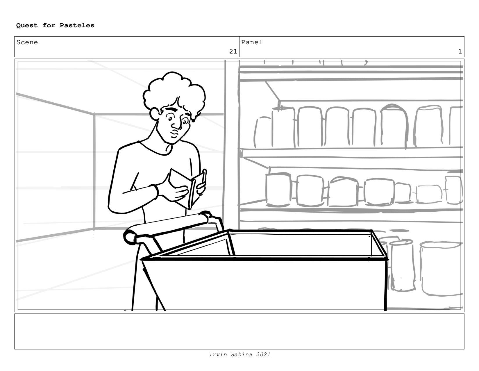 Scene 22 Panel 1 Quest for Pasteles Irvin Sahin...