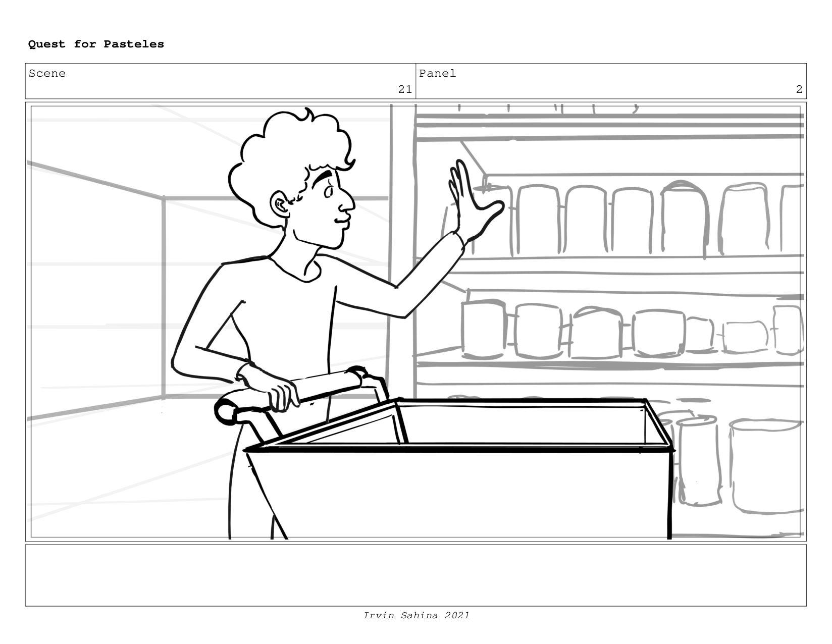Scene 22 Panel 2 Quest for Pasteles Irvin Sahin...