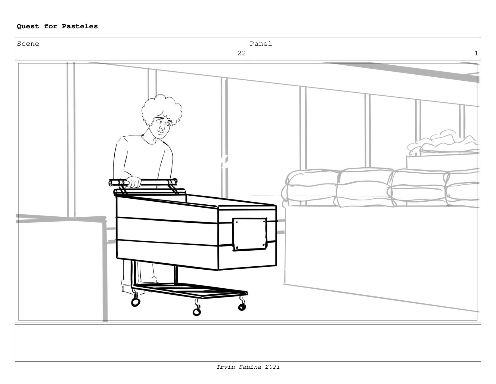 Scene 23 Panel 2 Quest for Pasteles Irvin Sahin...