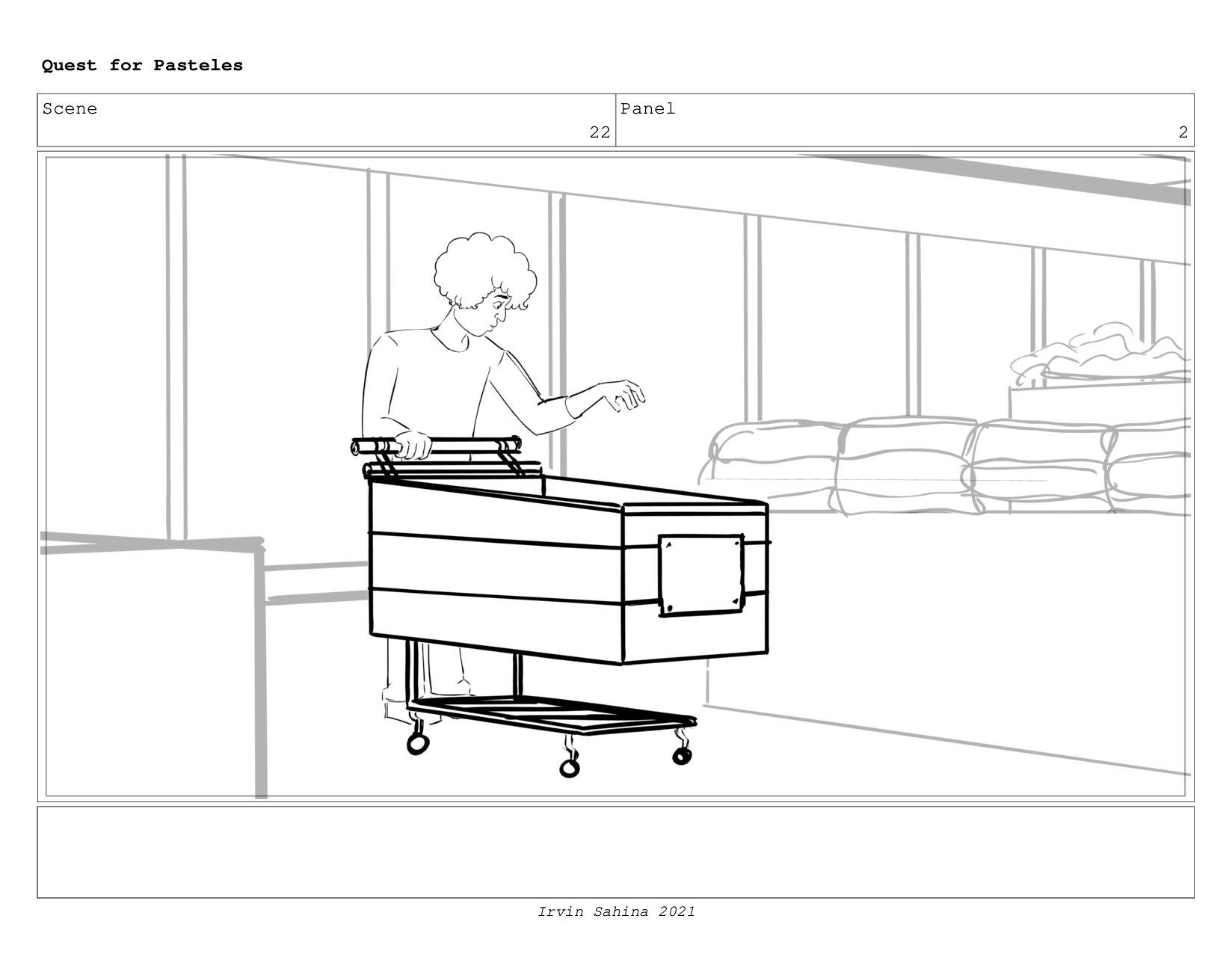 Scene 24 Panel 1 Quest for Pasteles Irvin Sahin...