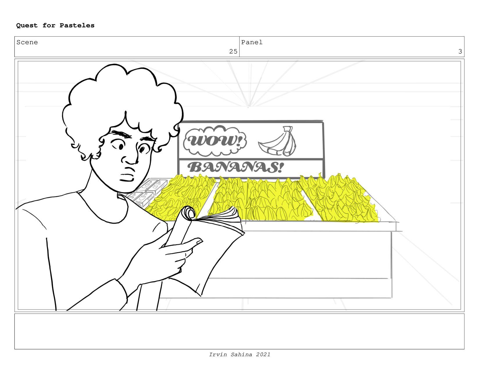 Scene 28 Panel 1 Quest for Pasteles Irvin Sahin...