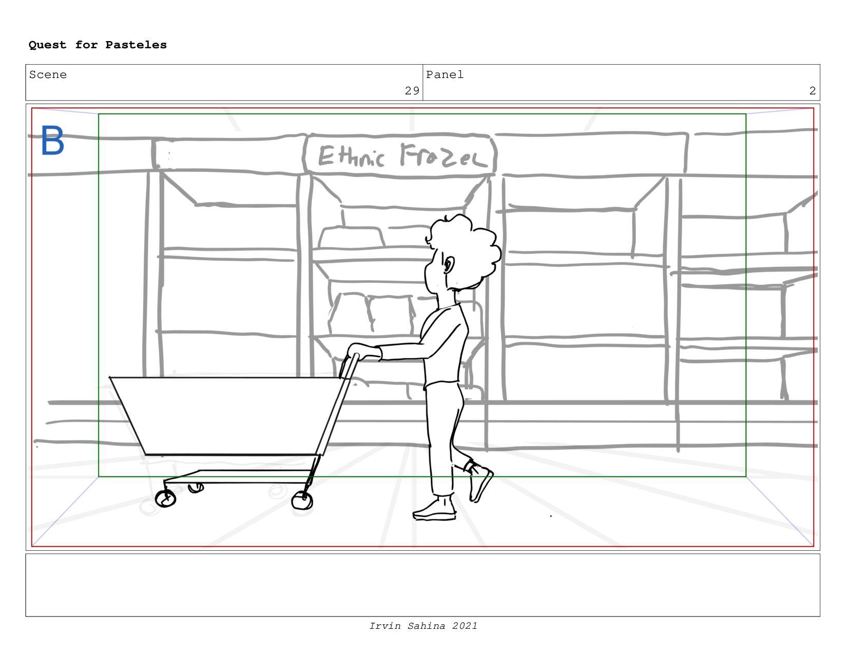 Scene 32 Panel 1 Quest for Pasteles Irvin Sahin...
