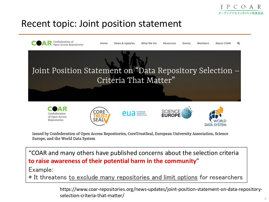 Recent topic: Joint position statement 6 https:...