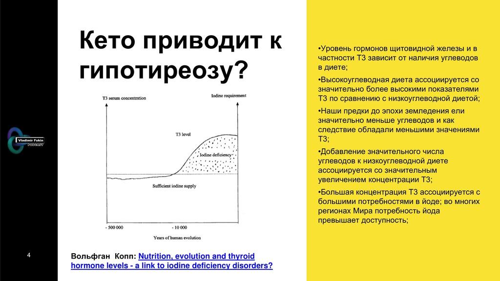 4 Кето приводит к гипотиреозу? Вольфган Копп: N...