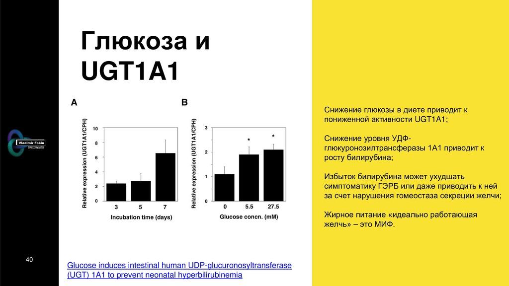 40 Глюкоза и UGT1A1 Снижение глюкозы в диете пр...