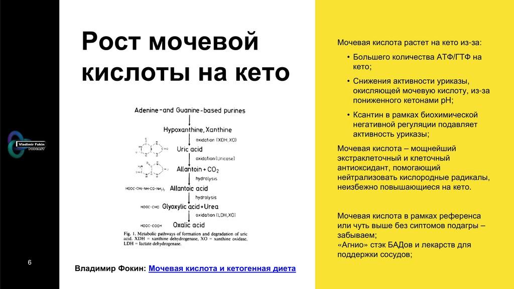 6 Рост мочевой кислоты на кето Владимир Фокин: ...