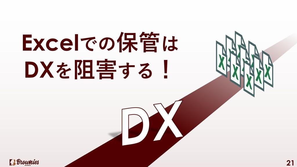 21 Excelでの保管は DXを阻害する!