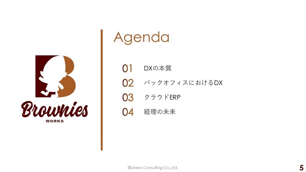 Agenda ©Libero Consulting Co.,Ltd. 5 DXの本質 バックオ...