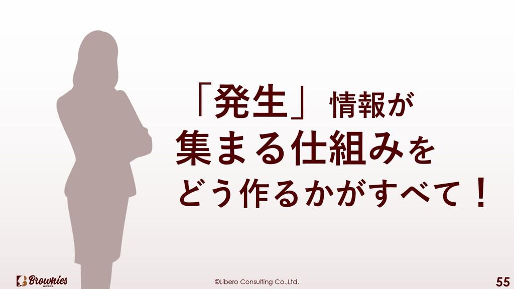 ©Libero Consulting Co.,Ltd. 55 「発⽣」情報が 集まる仕組みを ...