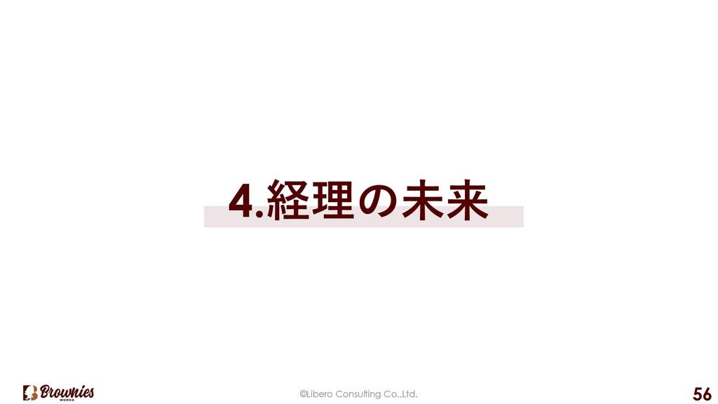 ©Libero Consulting Co.,Ltd. 56 4.経理の未来