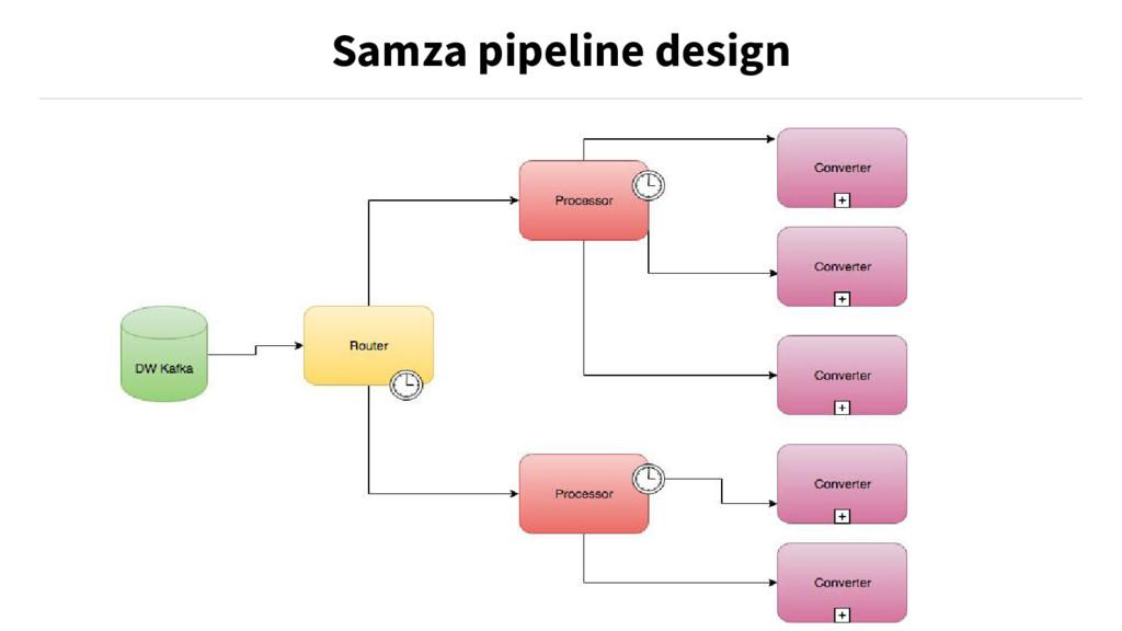 Samza pipeline design