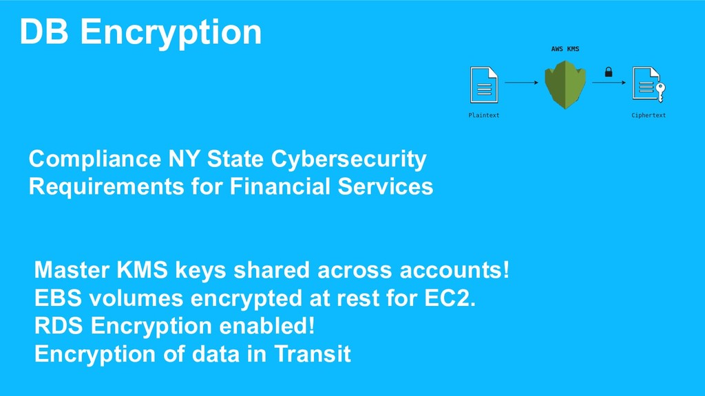 DB Encryption Master KMS keys shared across acc...