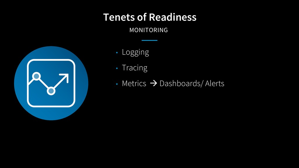 Tenets of Readiness MONITORING • Logging • Trac...