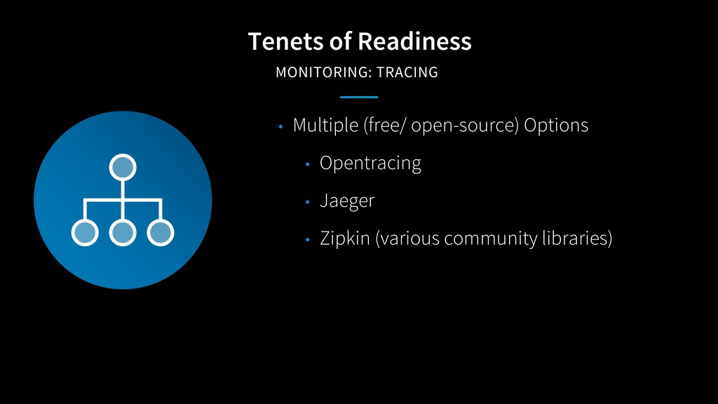 Tenets of Readiness MONITORING: TRACING • Multi...
