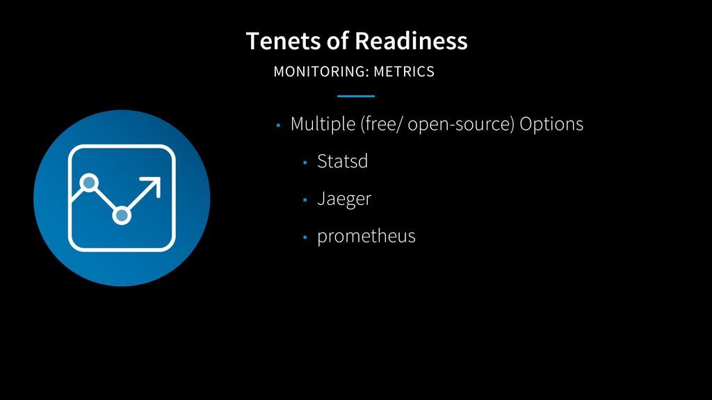 Tenets of Readiness MONITORING: METRICS • Multi...