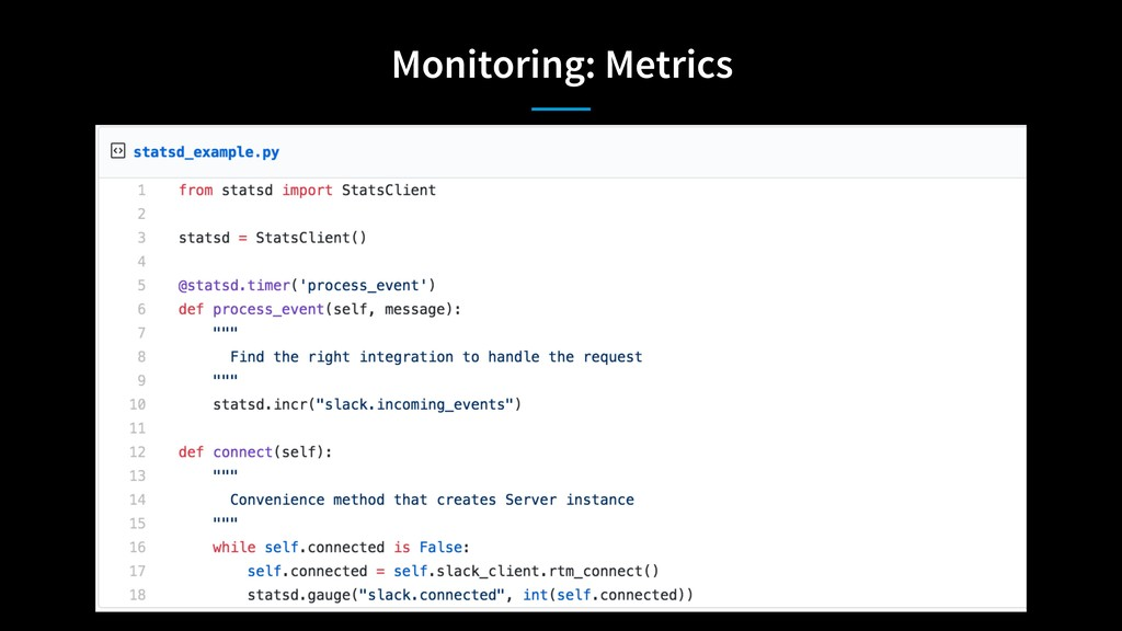Monitoring: Metrics