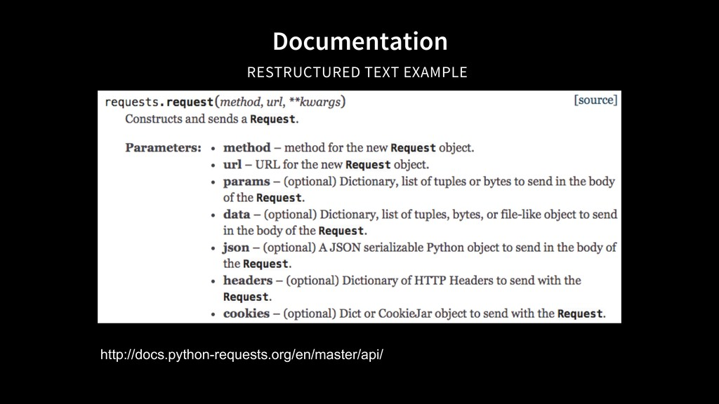 Documentation RESTRUCTURED TEXT EXAMPLE http://...