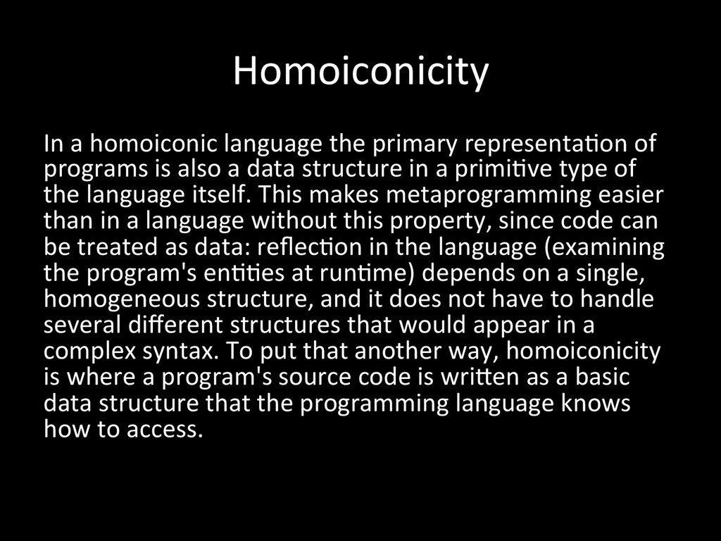 Homoiconicity	