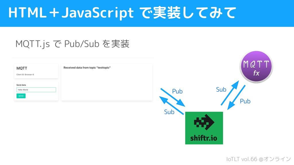 IoTLT vol.66 @オンライン HTML+JavaScript で実装してみて MQT...