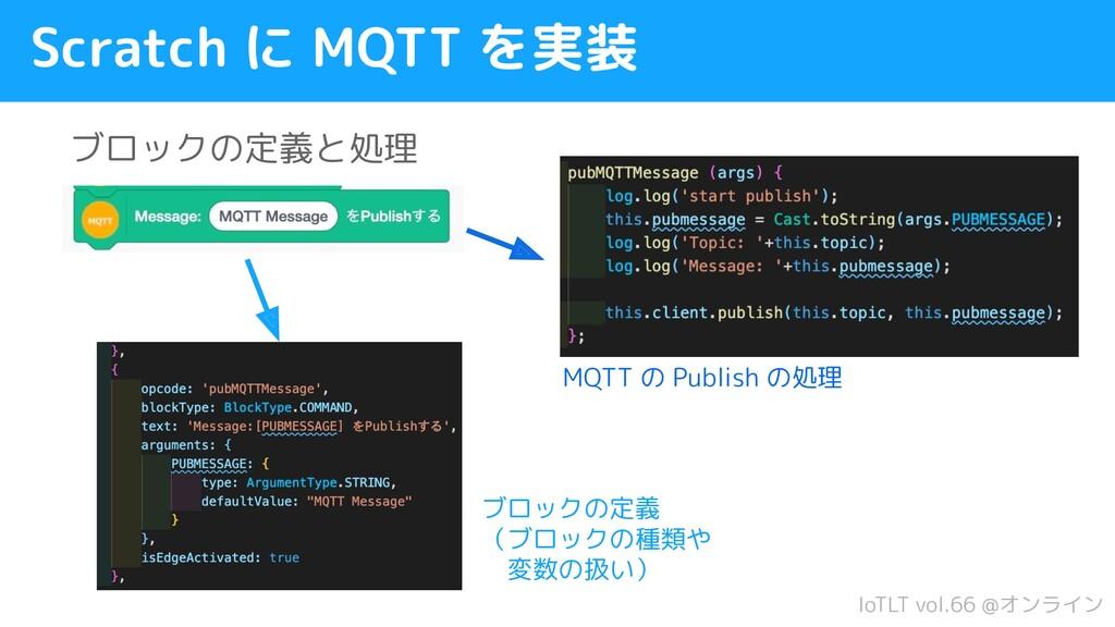 IoTLT vol.66 @オンライン Scratch に MQTT を実装 ブロックの定義と...