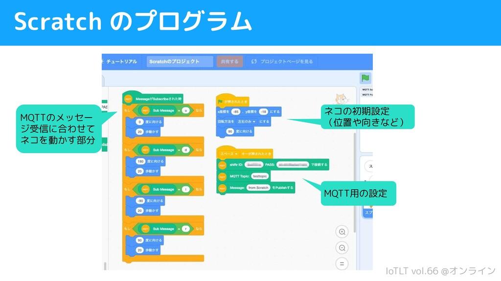 IoTLT vol.66 @オンライン Scratch のプログラム ネコの初期設定 (位置や...