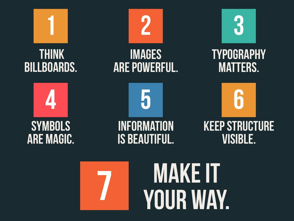 Think billboards. IMAGES ARE POWERFUL. TYPOGRAP...