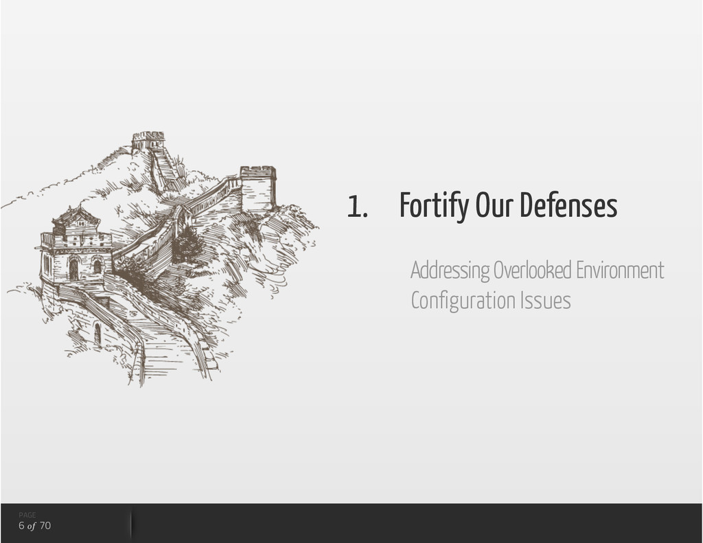 PAGE 6 of 70 1.  Fortify Our Defenses Addressin...
