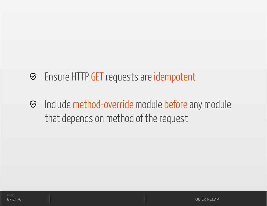 Ensure HTTP GET requests are idempotent   Inc...