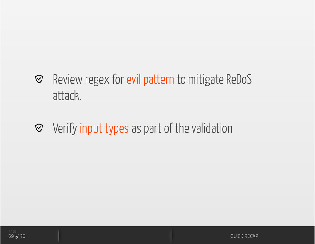 Review regex for evil pattern to mitigate ReD...