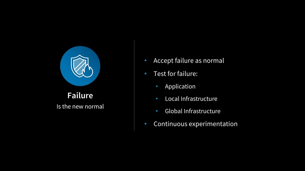 Is the new normal Failure • Accept failure as n...