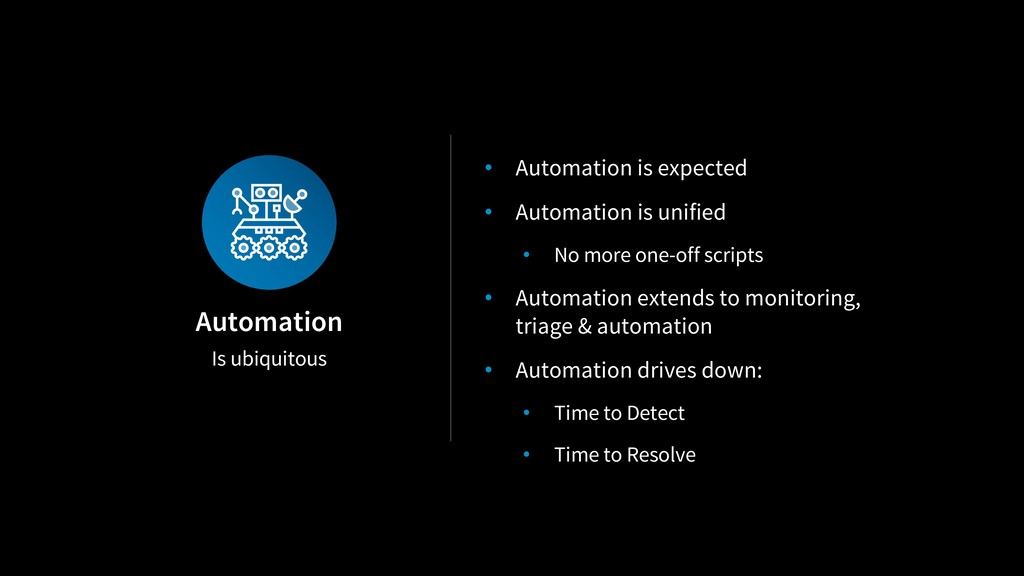 Is ubiquitous Automation • Automation is expect...
