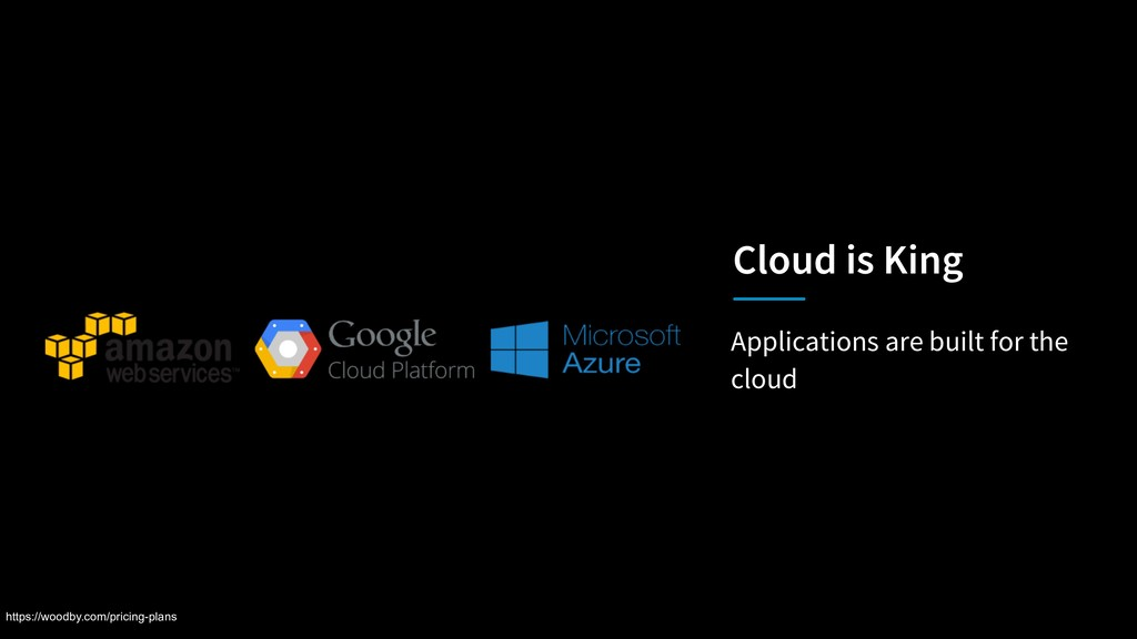 Applications are built for the cloud Cloud is K...