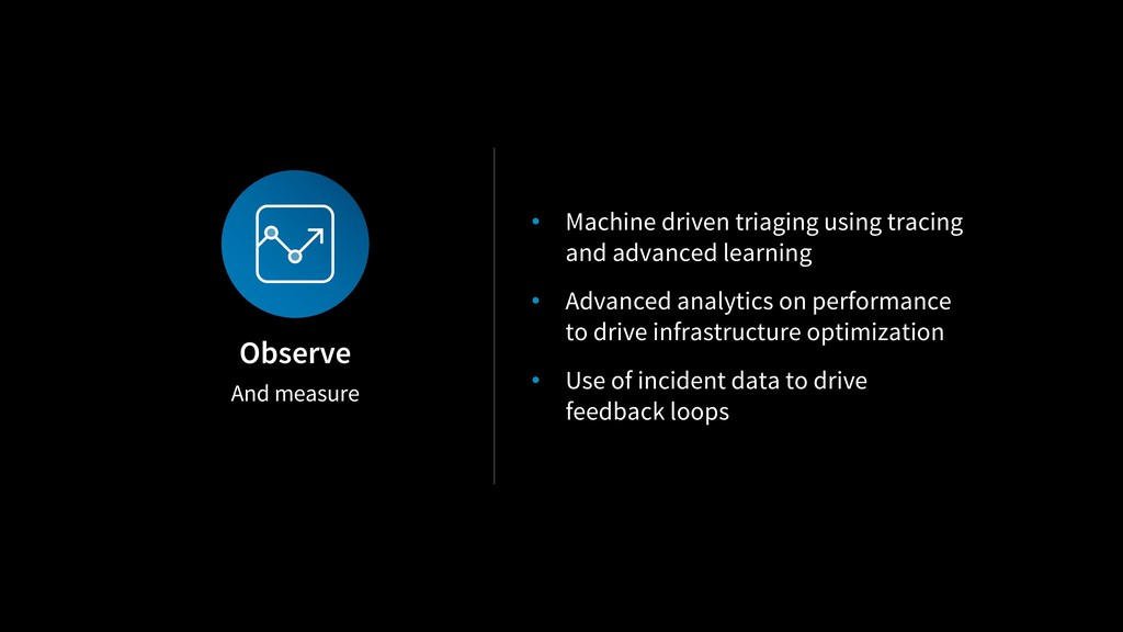 And measure Observe • Machine driven triaging u...