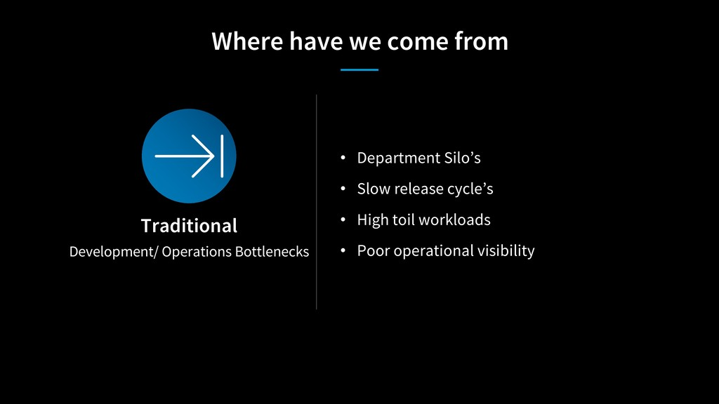 Development/ Operations Bottlenecks Traditional...