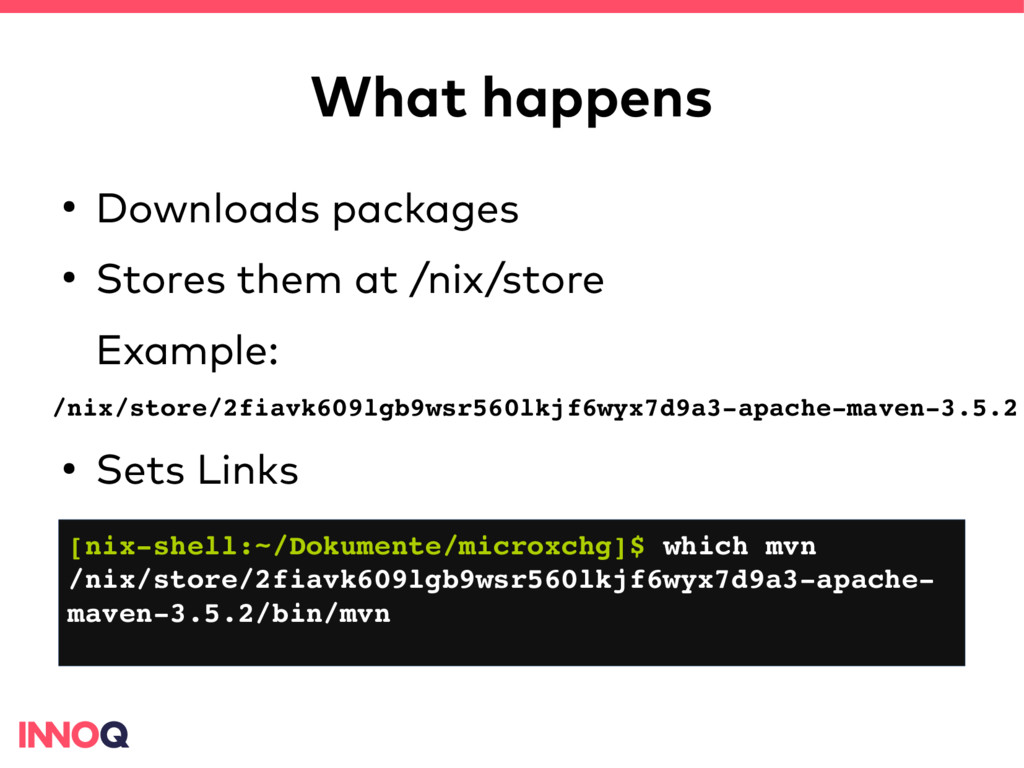 What happens ● Downloads packages ● Stores them...
