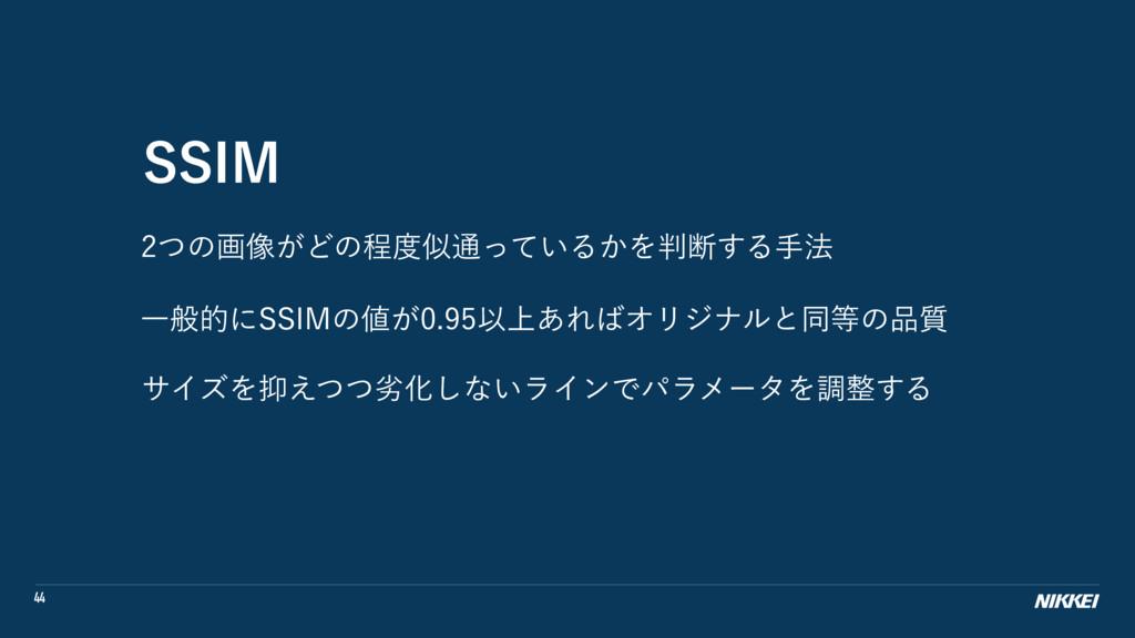 44 44*. ͭͷը૾͕Ͳͷఔ௨͍ͬͯΔ͔Λஅ͢Δख๏ Ұൠతʹ44*.ͷ͕...