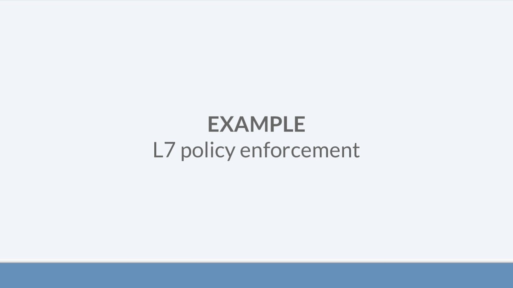 EXAMPLE L7 policy enforcement