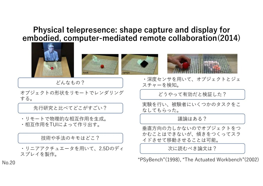 Physical telepresence: shape capture and displa...