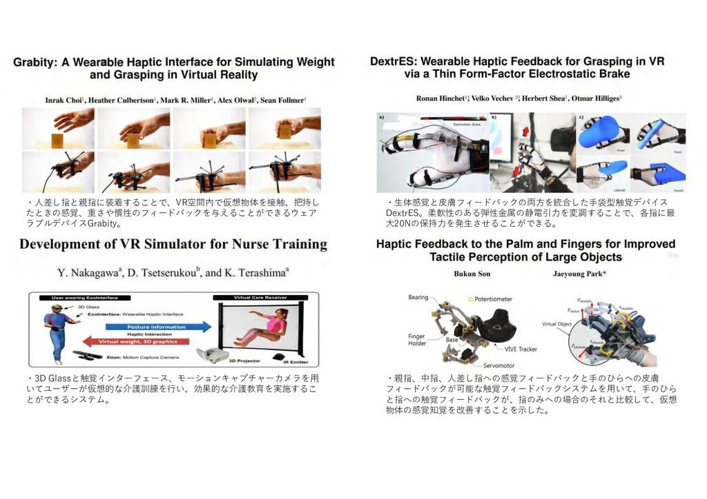 ・人差し指 親指 装着す VR空間内 仮想物体 接触 把持し 感覚 重 や慣性 ー ック 与え...