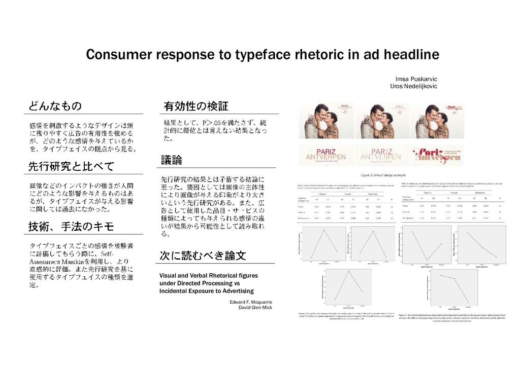 Consumer response to typeface rhetoric in ad he...